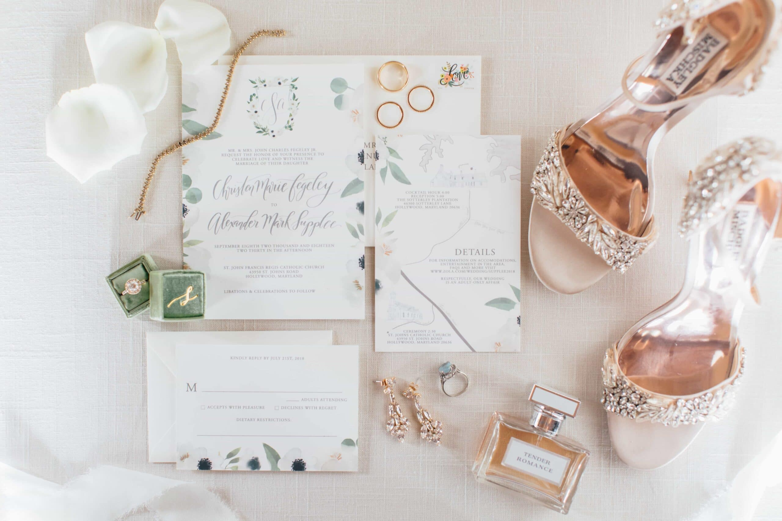 wedding day detail